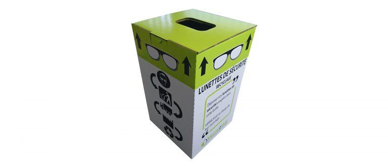boite carton de collecte imprimée