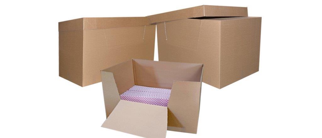 Container carton avec couvercle