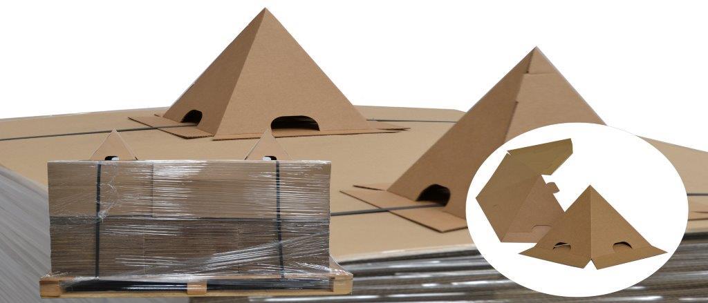 Cône carton anti gerbage - protection palette