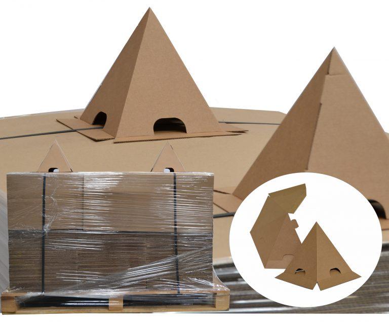 Cone carton anti gerbage