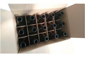 Caisses carton et croisillons bouteilles