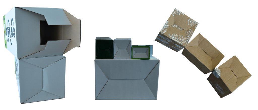 Caisses carton et boites carton à fond semi-automatique