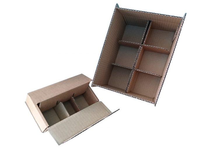 Caisses carton monobloc - Croisillons intégrés