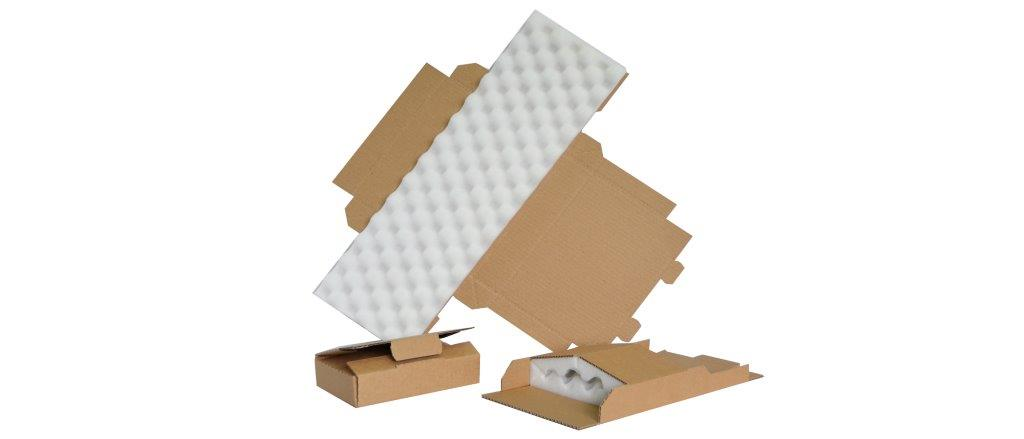Boites carton découpées mousse