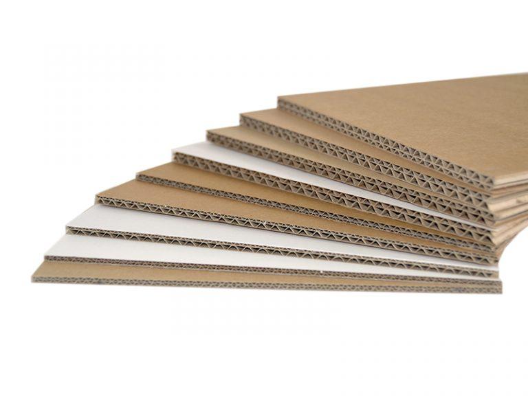 Les plaques carton double cannelure