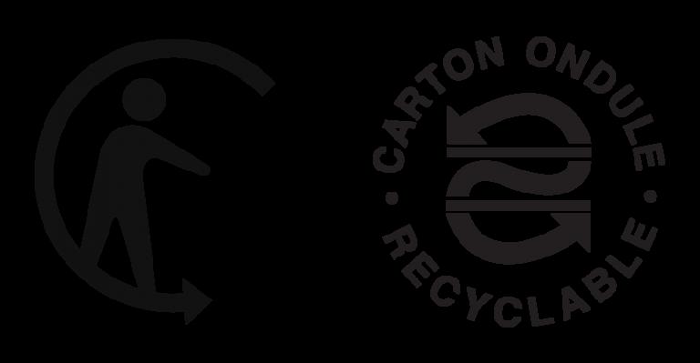 Logos du recyclage du carton