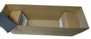 Caisse carton et calage mousse