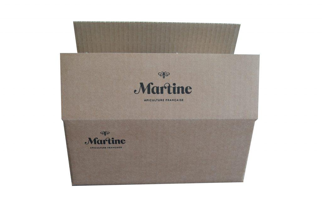 Caisse carton imprimée
