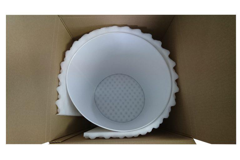 Emballage mousse et carton pour luminaires
