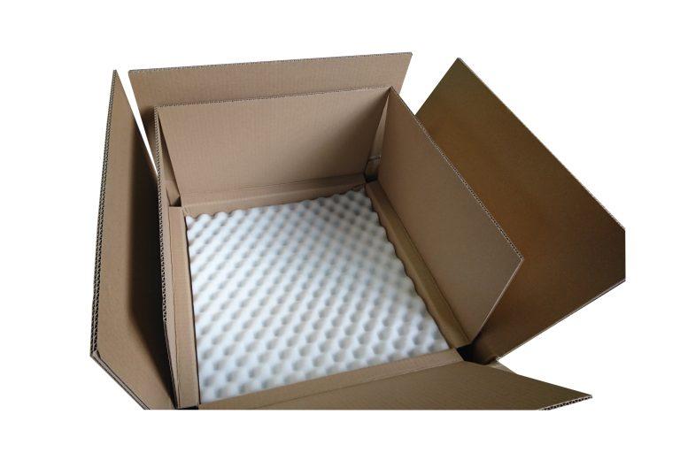 Emballage carton et mousse pour luminaires