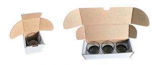 Carton et calage pour verre