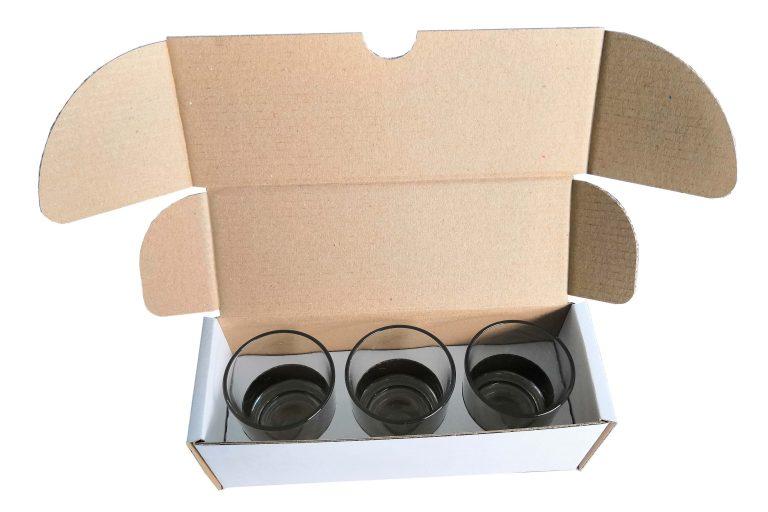 Coffret carton 3 bougies