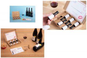 Utilisation boite découpée vinottes