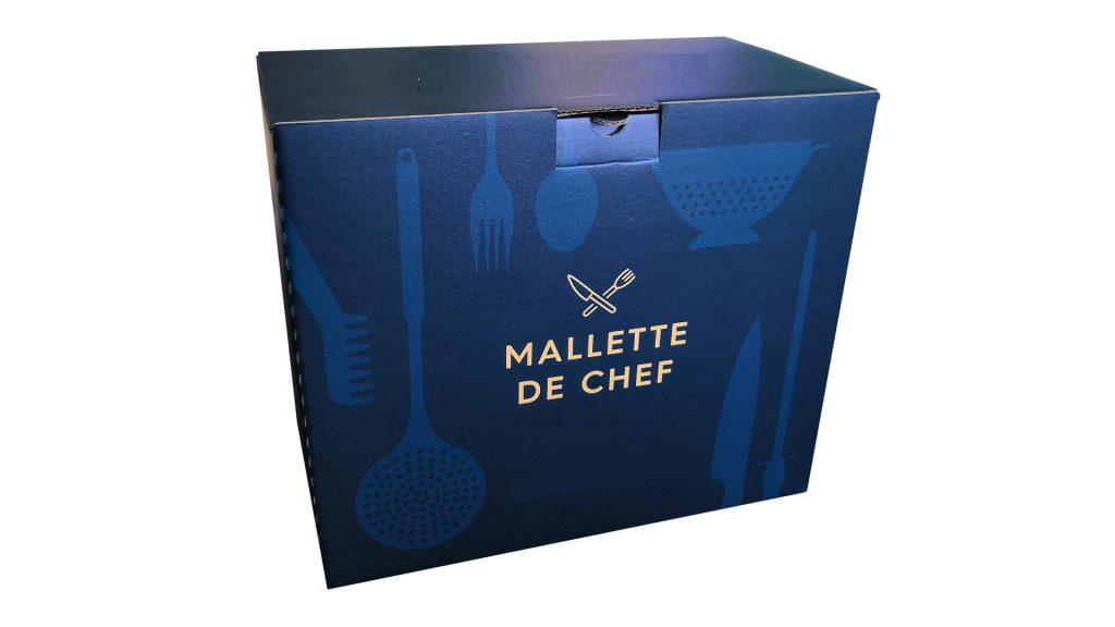 Boite carton Mallette de chef