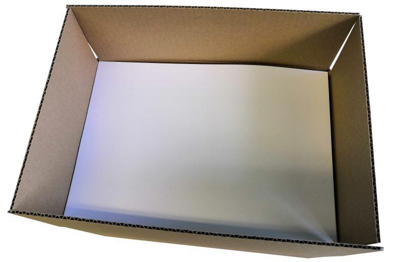 Emballage avant fermeture