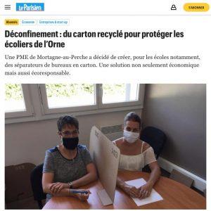 Article de presse dans Le Parisien du 2 juin 2020