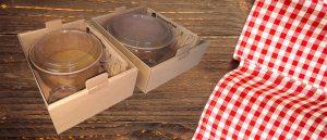 Plateau repas à emporter 100% carton recyclable