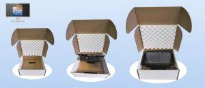 Emballage e-commerce pour écran tactile