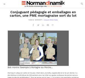 Article de presse sur l'entreprise EDC emballage par normandik